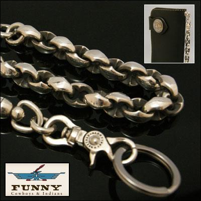 FUNNY ≪SE-1 ファニー ウォレットチェーン Silver925 プレートコーティング≫ブラス に シルバー...