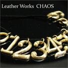 ≪真鍮無垢ブラス製オリジナル真鍮数字アクセサリーナンバー≫ペンダント/ネックレス【レザーワークスカオス】【LeatherWorksCHAOS】【楽ギフ_包装】