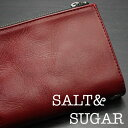 ソルトアンドシュガー SALT&SUGAR 財布 ≪レザー二つ折りウォレット ウォッシャブルダメージ加工 PI-2822- RD レッド≫