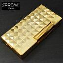 日本製 ガスライター/SAROME/サロメ ≪SD6A-13 ゴールド0.2μ/ダイヤモンドヘッド≫