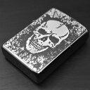 ZIPPO メタル ≪ZIPPO 2MPP-Skull(GY) 真鍮板両面特製プレート スカル&ボーン デザイン グレー≫