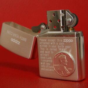 ジッポ ZIPPO【 ギフト ラッピング 無料 】バースイヤーコイン ZIPPO 誕生年の1セントコインが...