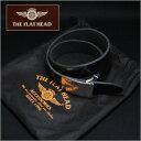 ≪FLATHEAD フラットヘッド OB-001 極厚6mm 手縫い ハンドメイド 日本製 サドルレザーベルト プレートバックル ブラック ベルトサイズ:28 30 32 34 36 38≫