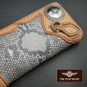 【即納】【手縫い】FLATHEAD/フラットヘッド≪ダイヤモンドパイソンSTOCKBURG(ストックバーグ) 多脂革 ロングウォレット PCW-3C / SVC-…