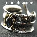 good vibrations/グッドバイブレーションズ≪ロンドンブルートパーズ&フェザーデザイン フリーサイズ リング(15〜17号)≫