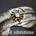 good vibrations/グッドバイブレーションズ≪ネイティブデザイン ビッグフェザー&ムーンストーン シルバーバングル ブレスレット≫