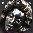 good vibrations/グッドバイブレーションズ≪Marilyn Monroe マリリン・モンロー オマージュ モチーフ メッセージ入り デザインリング #17 #21 17号 21号≫