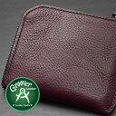 ≪Groover Leather/グルーバーレザー GLS-100-BRD 手縫い L型ジップ小型ウォレット プレーン ボルドー≫