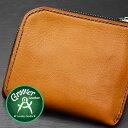 ≪Groover Leather/グルーバーレザー GLS-100-NBRN 手縫い L型ジップ小型ウォレット プレーン ナチュラルブラウン≫