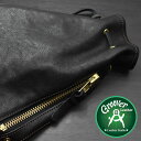 ≪Groover Leather/グルーバーレザー GHB-100-BLK 巾着型ショルダーバッグ シュリンクレザー ブラック≫