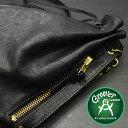 2WAYショルダーバッグ≪Groover Leather/グルーバーレザー GHB-100-BLK/BRN 巾着型ショルダーバッグ シュリンクレザー ブラック×ブラウン≫
