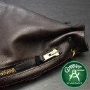 2WAYショルダーバッグ≪Groover Leather/グルーバーレザー GHB-100-BLK/BRN 巾着型ショルダーバッグ シュリンクレザー ブラウン×ブラック≫