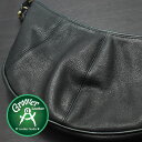 ≪Groover Leather/グルーバーレザー GMB-100-BLK ショルダーバッグ シュリンクレザー ブラック≫