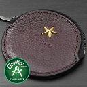 ≪Groover Leather/グルーバーレザー GDB-100-BRD 小銭入れ 星スタッズ付き丸型コインケース ボルドー≫