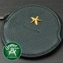 ≪Groover Leather/グルーバーレザー GDB-100-MGRN 小銭入れ 星スタッズ付き丸型コインケース モスグリーン≫