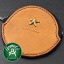 ≪Groover Leather/グルーバーレザー GDB-100-NBRN 小銭入れ 星スタッズ付き丸型コインケース ナチュラルブラウン≫