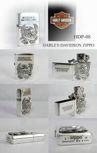 【送料無料】即納ZIPPOハーレーダビッドソンシルバーLIVETORIDEメタルジッポーHDP-08HARLEY-DAVIDSON
