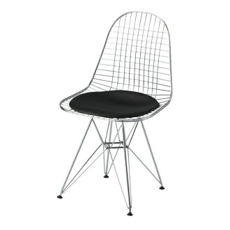 Eames ワイヤーチェアー DKR chrome with cushion black