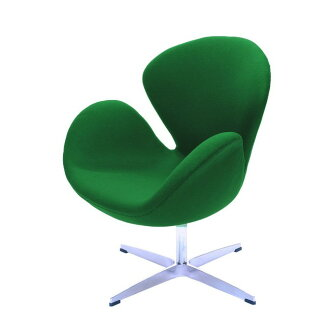 Jacobsen swan chair green