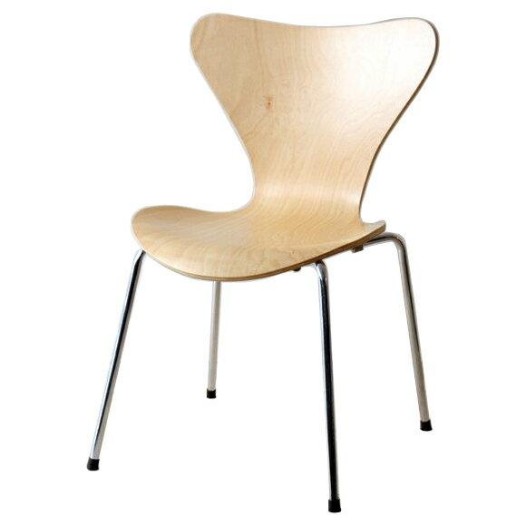 ヤコブセン セブンチェア ナチュラル おしゃれ かわいい デザイナー アルネ・ヤコブセン スタッキング チェア ダイニングチェア sevenchair 椅子 北欧 ノルディック リプロダクト