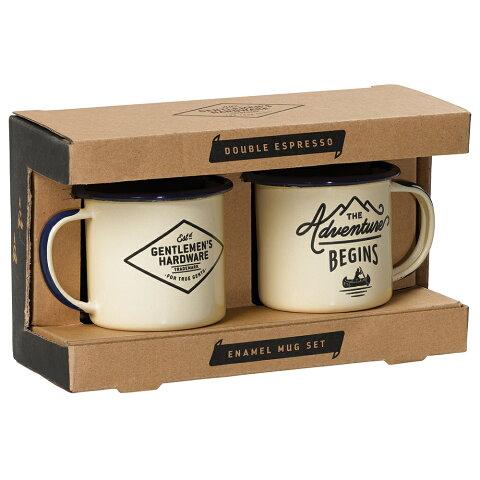 キャンプ 食器 アウトドア ジェントルメンズハードウェア エナメルエスプレッソセット Enamel Espresso Set 琺瑯 ホーロー エスプレッソマグ2個セット おしゃれ かっこいい グランピング コップ
