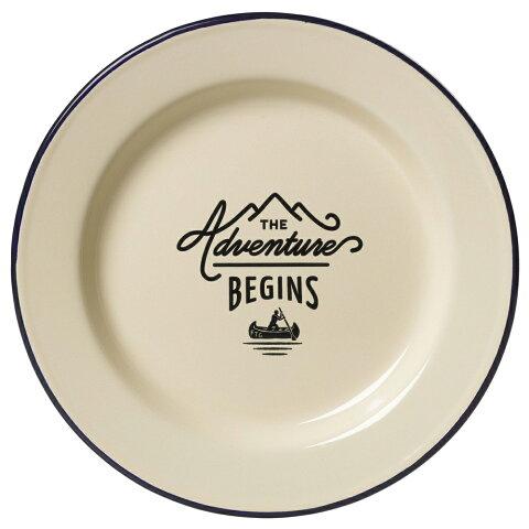 キャンプ 食器 アウトドア ジェントルメンズハードウェア エナメルプレート Enamel Plate 琺瑯 ホーロー プレート 皿 アイボリー おしゃれ かっこいい グランピング 食器セット としても
