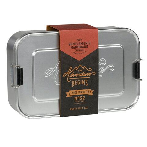 アルミ 弁当箱 ジェントルメンズハードウェア ラージ ランチティン LUNCH TIN シルバー ランチボックス アルミニウム メンズ お弁当箱 おしゃれ かっこいい