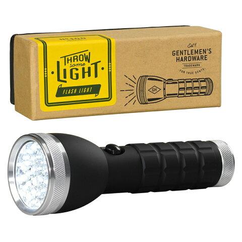 懐中電灯 led ジェントルメンズハードウェア シルバートーチ LED Silver Torch おしゃれ かっこいい キャンプ アウトドア グランピング
