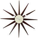 ジョージネルソン 時計 掛け時計 サンバーストクロック ウォールナット ウォルナット ネルソンクロック 掛時計 壁掛け時計 おしゃれ かわいい かっこいい 太陽 正規品
