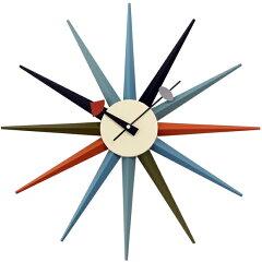 ジョージネルソン サンバーストクロック マルチカラー 正規品掛け時計 時計 ジョージ・ネルソン...