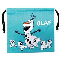 ディズニー/DISNEYアナと雪の女王巾着コップ袋や給食袋にオラフとミニオラフ柄