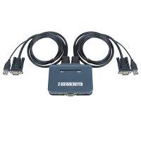 【送料無料】QC済KVMVGA自動スイッチャー2ポート500MHzKVMケーブル1.2m切り替えPCパソコン2台用切替器キーボードマウス対応USB2.0【明日楽】