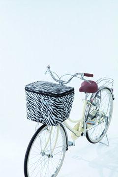 川住製作所2段式自転車前カゴカバー自転車前かごカバーアニマル柄