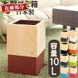 【ポイント10倍】 木製 ゴミ箱 送料無料 日本製 国産 10l 20cm スクエア 正方形 角型 四角 キューブ コンパクト 小さい ごみ箱 袋 見えない ごみばこ ダストボックス ウッド くずいれ ゴミ入れ ナチュラル インテリア 北欧 贈り物
