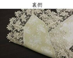 [メール便送料無料]ランチョンマット30cm×45cmジャガード織レースバラ上品エレガントヨーロピアンかわいいきれい花薔薇洗濯可