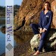 綿コットンのスムース生地の柔らかな丸襟&ブルー・パジャマ(ホームウェア)ナイトウェア