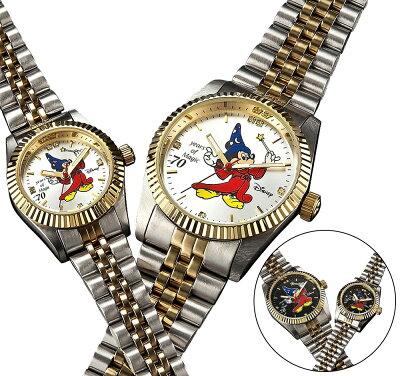 ミッキーファンタジア70周年ダイヤ腕時計「ファンタジア」公開70周年メモリアル!【カラー】ブラック/ホワイト★メンズ、レディスございます!【楽ギフ_包装】【smtb-s】10P12Sep14