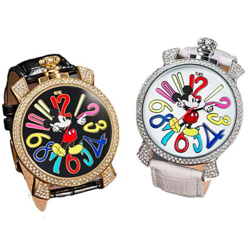 ミッキー ファンタジーカラーカラー:ゴールド/シルバー(ミッキー腕時計 ビックフェイス時計 ミ...