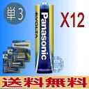 メール便【送料無料】Panasonic(パナソニック) EVOLTA(エボルタ) 単3形 4本パック計12本 防災用品【RCP】