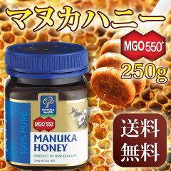 <マヌカハニー MGO550+ 250g>送料無料メチルグリオキサール含有マヌカヘルス最高レベ…