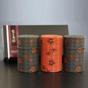 高級深蒸し茶印傳缶3本セット送料無料ギフト(静岡茶 深むし茶 お土産 ギフト...