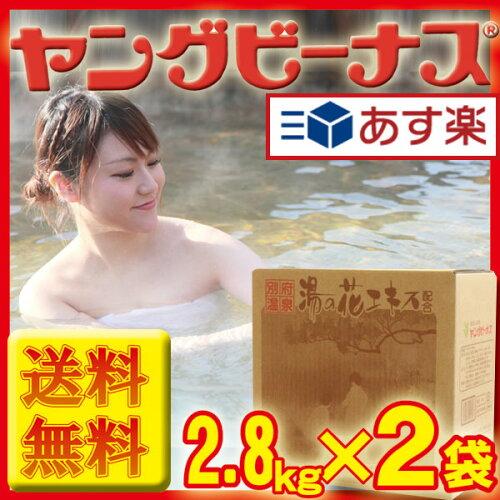 ヤングビーナス<ヤングビーナス詰め替え>Sv C-602.8kg×2袋送料無料(温泉 入浴剤 湯の花 明礬の...