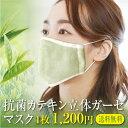 抗菌立体マスク 1枚 カテキン 銀イオン Ag メール便送料無料 オーガニックコットンガーゼ 綿100% 今治製 洗濯可能 日本製 布マスク 大人 洗える 抗菌 ポイント消化