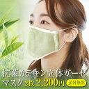 抗菌立体マスク 2枚セット カテキン 銀イオン Ag メール便送料無料 オーガニックコットンガーゼ 綿100% 今治製 洗濯可能 日本製 布マスク 大人 洗える 抗菌 ポイント消化