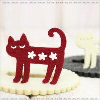 【ネコポスハンカチギフト可】コンビキャットコースター(ノアファミリー猫グッズネコ雑貨)051-H9012016SS