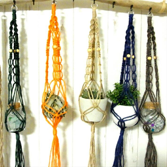 プラントハンガーヘンプ編み