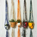 プラントハンガー 【メール便無料】【代引き不可】 ヘンプ編み 完成品 プランターホルダー 吊り…