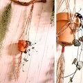 【メール便送料無料】【代引き不可】プラントハンガーヘンプ編みプランターホルダー吊り下げタイプ麻紐ハンドメイド観葉植物