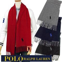 POLO by Ralph Lauren【イタリア製】ミドルポニーウ-ル100% マフラ-【ラルフローレン】【男女兼用】