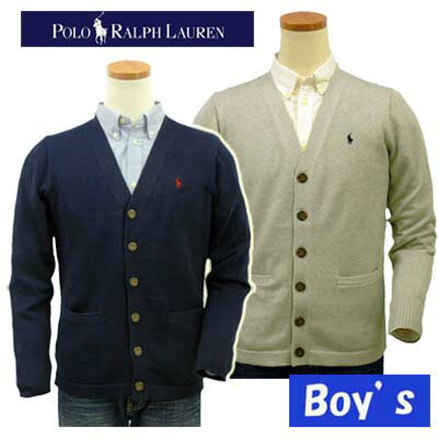 POLO by Ralph Lauren Boy'sPimaコットンカーデガン